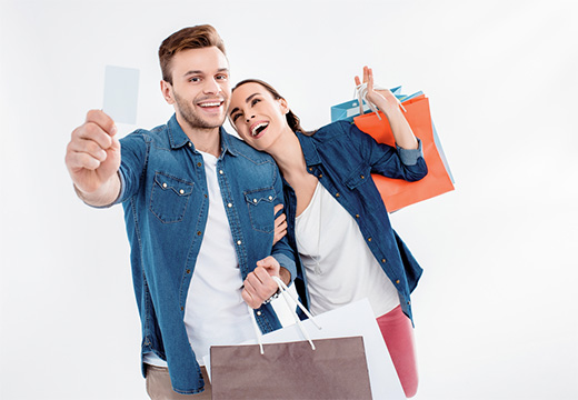 image of couple shopping