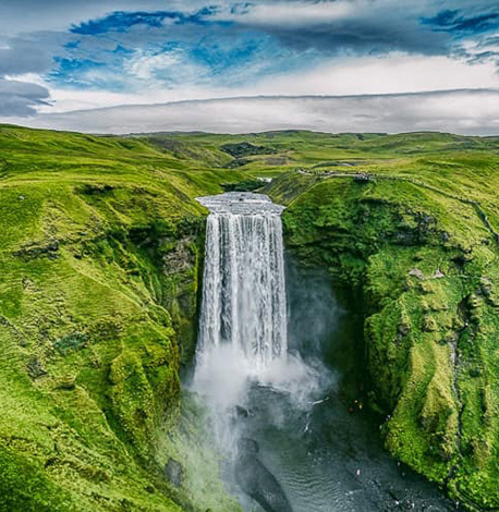 image of iceland waterfall