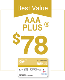 AAA Plus Membership only $78