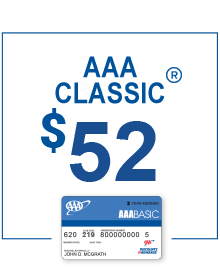 AAA Classic Membership only $52