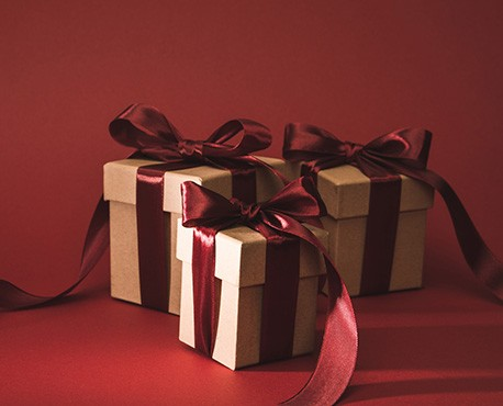 image of gifts with bowes