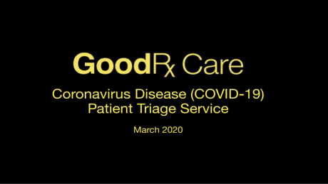GoodRx COVID-19 Screening and Triage Service