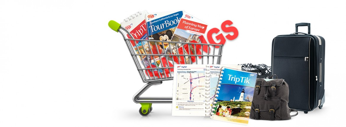 image of travel store items and savings