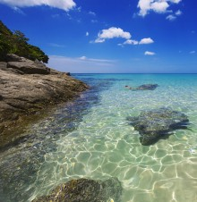 image of clear water shore in Bermuda